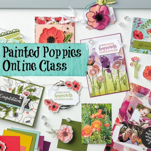 ONLINE CLASS featuring PAINTED POPPIES by Stampin' Up! VIDEO TUTORIAL - Click for details - ️SHOP ️ - ORDER STAMPIN' UP! PRODUCTS ON-LINE. Purchase the $99 Starter Kit & enjoy a 20% discount! Tons of paper crafting ideas & FREE Online Classes. www.AStampAbove.com