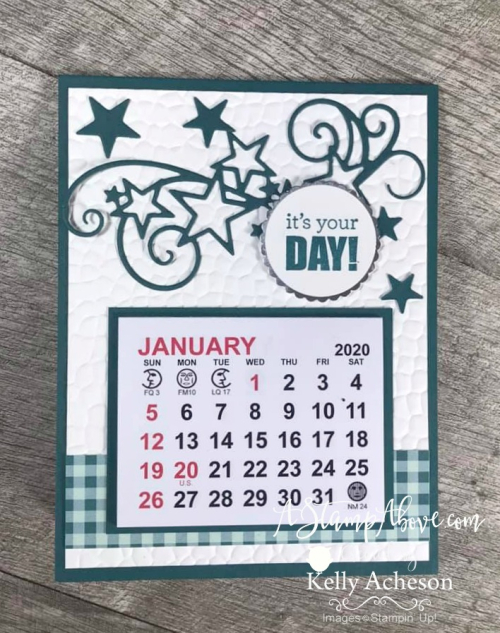 Desktop Calendar Card VIDEO TUTORIAL - Click for details - ️SHOP ️ - ORDER STAMPIN' UP! PRODUCTS ON-LINE. Purchase the $99 Starter Kit & enjoy a 20% discount! Tons of paper crafting ideas & FREE Online Classes. www.AStampAbove.com