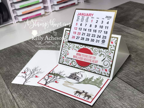 Easel Calendar for HER VIDEO TUTORIAL - Click for details - ️SHOP ️ - ORDER STAMPIN' UP! PRODUCTS ON-LINE. Purchase the $99 Starter Kit & enjoy a 20% discount! Tons of paper crafting ideas & FREE Online Classes. www.AStampAbove.com