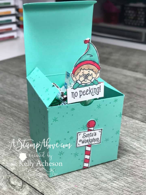 Pop Up Box with #ELFIE VIDEO TUTORIAL - Click for details - ️SHOP ️ - ORDER STAMPIN' UP! PRODUCTS ON-LINE. Purchase the $99 Starter Kit & enjoy a 20% discount! Tons of paper crafting ideas & FREE Online Classes. www.AStampAbove.com