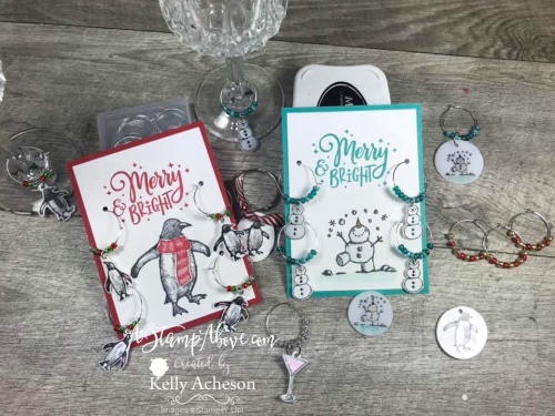 Wine charms made from Shrinky Dinks! Watch the VIDEO TUTORIAL - Click for details - ️SHOP ️ - ORDER STAMPIN' UP! PRODUCTS ON-LINE. Purchase the $99 Starter Kit & enjoy a 20% discount! Tons of paper crafting ideas & FREE Online Classes. www.AStampAbove.com