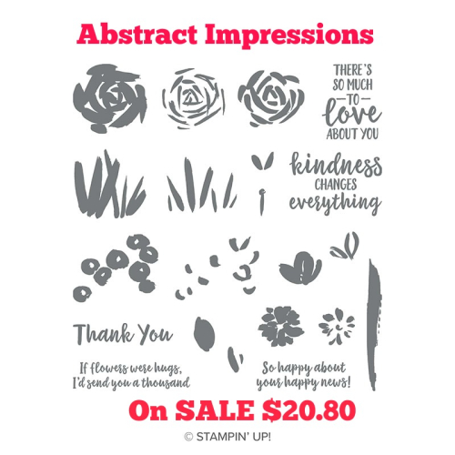 Check out a pretty card with ABSTRACT IMPRESSIONS by Stampin' Up! on sale - VIDEO TUTORIAL - Click for details - ️SHOP ️ - ORDER STAMPIN' UP! PRODUCTS ON-LINE. Purchase the $99 Starter Kit & enjoy a 20% discount! Tons of paper crafting ideas & FREE Online Classes. www.AStampAbove.com