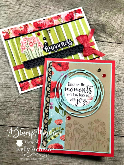 Learn how to make these cards! ONLINE CLASS featuring PAINTED POPPIES by Stampin' Up! VIDEO TUTORIAL - Click for details - ️SHOP ️ - ORDER STAMPIN' UP! PRODUCTS ON-LINE. Purchase the $99 Starter Kit & enjoy a 20% discount! Tons of paper crafting ideas & FREE Online Classes. www.AStampAbove.com