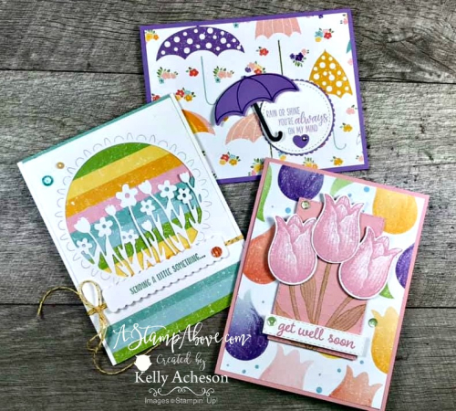 Learn how to make these cards with the LIMITED TIME ONLY - Pleased As Punch Designer Series Paper -  VIDEO TUTORIAL - Click for details - ️SHOP ️ - ORDER STAMPIN' UP! PRODUCTS ON-LINE. Purchase the $99 Starter Kit & enjoy a 20% discount! Tons of paper crafting ideas & FREE Online Classes. www.AStampAbove.com