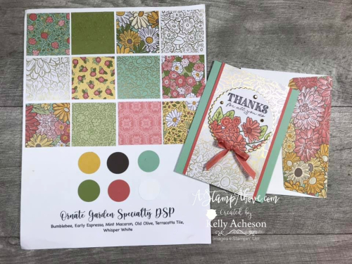 Ornate Garden Suite by Stampin' Up! - VIDEO TUTORIAL - Click for details - ️SHOP ️ - ORDER STAMPIN' UP! PRODUCTS ON-LINE. Purchase the $99 Starter Kit & enjoy a 20% discount! Tons of paper crafting ideas & FREE Online Classes. www.AStampAbove.com