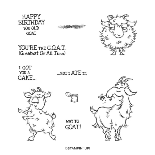Way to Goat VIDEO TUTORIAL - Click for details - ️SHOP ️ - ORDER STAMPIN' UP! PRODUCTS ON-LINE. Purchase the $99 Starter Kit & enjoy a 20% discount! Tons of paper crafting ideas & FREE Online Classes. www.AStampAbove.com