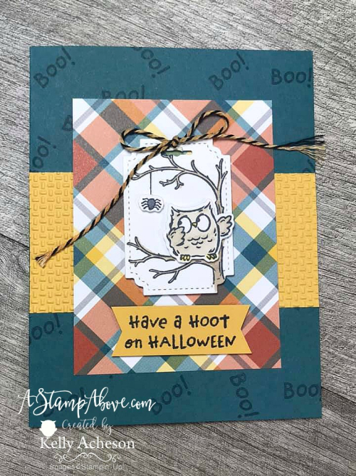Check out my September KIT CLASS with the HAVE A HOOT bundle from Stampin' up! VIDEO TUTORIAL - Click for details - ️SHOP ️ - ORDER STAMPIN' UP! PRODUCTS ON-LINE. Purchase the $99 Starter Kit & enjoy a 20% discount! Tons of paper crafting ideas & FREE Online Classes. www.AStampAbove.com     If the video above does not play - click HERE to watch it on my blog.