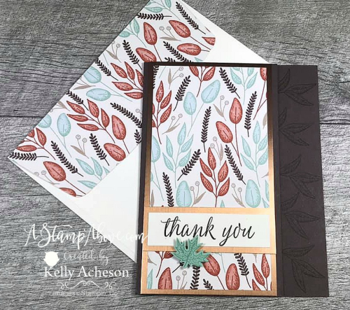 Check out an entire set of gorgeous fall cards using the GILDED AUTUMN SUITE by Stampin' Up! VIDEO TUTORIAL - Click for details - ️SHOP ️ - ORDER STAMPIN' UP! PRODUCTS ON-LINE. Purchase the $99 Starter Kit & enjoy a 20% discount! Tons of paper crafting ideas & FREE Online Classes. www.AStampAbove.com