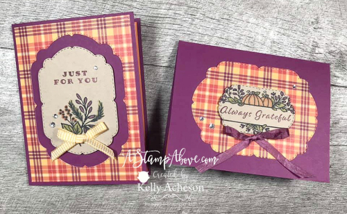 Learn some tips & tricks with the PLAID TIDINGS SUITE - VIDEO TUTORIAL - Click for details - ️SHOP ️ - ORDER STAMPIN' UP! PRODUCTS ON-LINE. Purchase the $99 Starter Kit & enjoy a 20% discount! Tons of paper crafting ideas & FREE Online Classes. www.AStampAbove.com