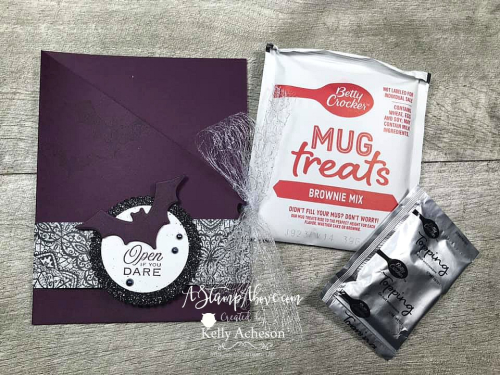 The Magic in this Night is so amazing! Learn how to make a GATE FOLD card and fun TREAT POUCH - VIDEO TUTORIAL - Click for details - ️SHOP ️ - ORDER STAMPIN' UP! PRODUCTS ON-LINE. Purchase the $99 Starter Kit & enjoy a 20% discount! Tons of paper crafting ideas & FREE Online Classes. www.AStampAbove.com