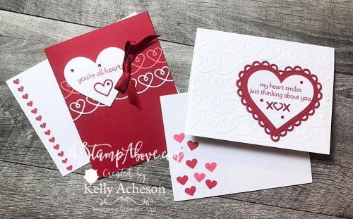 Valentine Blog Hop - VIDEO TUTORIAL - Click for details! www.AStampAbove.com