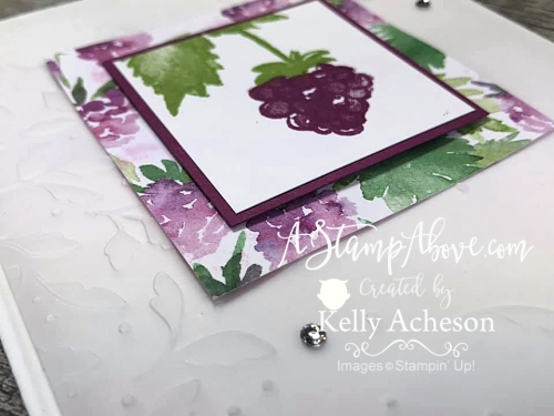 Learn how to make this quick and easy card with the BERRY BLESSINGS (FREE) BUNDLE by Stampin' Up! Video Tutorial available www.AStampAbove.com