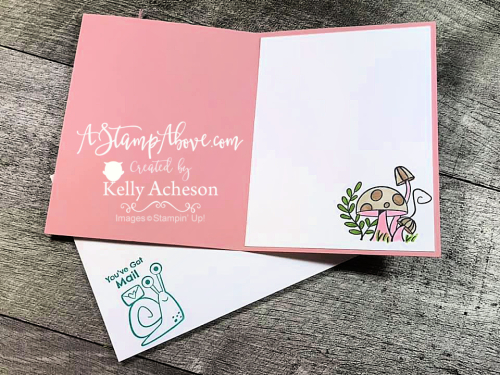 Learn how easy it is to make this adorable card using the SNAIL MAIL suite from Stampin' Up! Click for video tutorial. www.AStampAbove.com