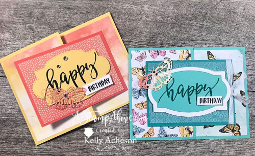 Butterfly Brilliance Collection by Stampin' Up! Click to watch a video tutorial for this fun fold! www.AStampAbove.com