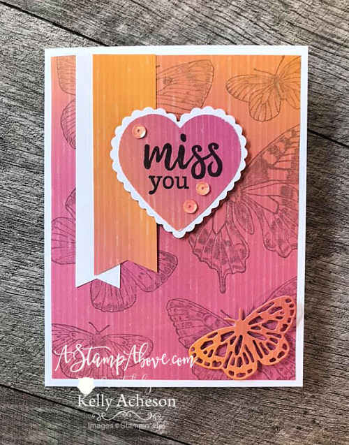 Learn how easy it is to make a fabulous pop up inside your cards! Butterfly Brilliance & Wonderful As You by Stampin' Up!www.AStampAbove.com