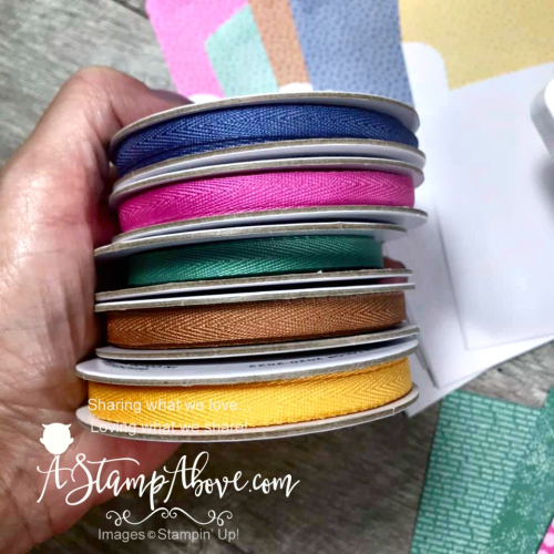 NEW IN COLORS by Stampin' Up! VIDEO TUTORIAL - Click for details - ️SHOP ️ - ORDER STAMPIN' UP! PRODUCTS ON-LINE. Purchase the $99 Starter Kit & enjoy a 20% discount! Tons of paper crafting ideas & FREE Online Classes. www.AStampAbove.com