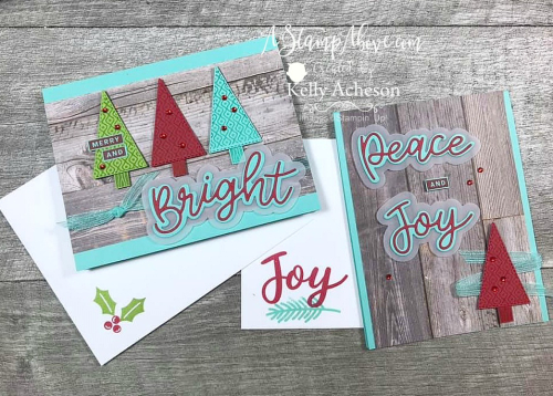 Learn how to make these colorful holiday cards with the NEW Peace & Joy by Stampin' Up! - VIDEO TUTORIAL - Click for details - ️SHOP ️ - ORDER STAMPIN' UP! PRODUCTS ON-LINE. Purchase the $99 Starter Kit & enjoy a 20% discount! Tons of paper crafting ideas & FREE Online Classes. www.AStampAbove.com