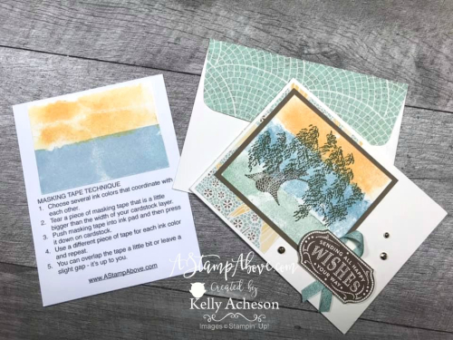 MASKING TAPE TECHNIQUE tutorial - Mosaic Mood Suite by Stampin' Up! is retiring! VIDEO TUTORIAL - Click for details - ️SHOP ️ - ORDER STAMPIN' UP! PRODUCTS ON-LINE. Purchase the $99 Starter Kit & enjoy a 20% discount! Tons of paper crafting ideas & FREE Online Classes. www.AStampAbove.com