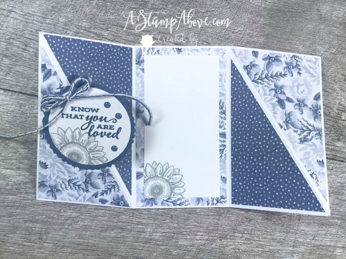 TWISTED GATE FOLD - learn how to make this fun card - VIDEO TUTORIAL - Click for details - ️SHOP ️ - ORDER STAMPIN' UP! PRODUCTS ON-LINE. Purchase the $99 Starter Kit & enjoy a 20% discount! Tons of paper crafting ideas & FREE Online Classes. www.AStampAbove.com