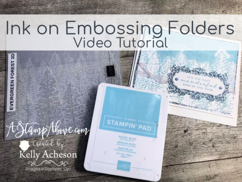 Ink up your embossing folders! The Evergreen Embossing Folder is spectacular! VIDEO TUTORIAL - Click for details - ️SHOP ️ - ORDER STAMPIN' UP! PRODUCTS ON-LINE. Purchase the $99 Starter Kit & enjoy a 20% discount! Tons of paper crafting ideas & FREE Online Classes. www.AStampAbove.com