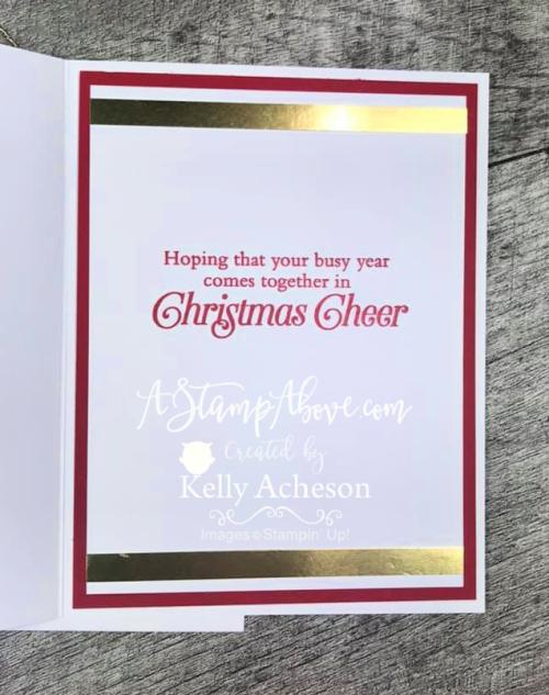 Card & Christmas Sampler Video  www.AStampAbove.com