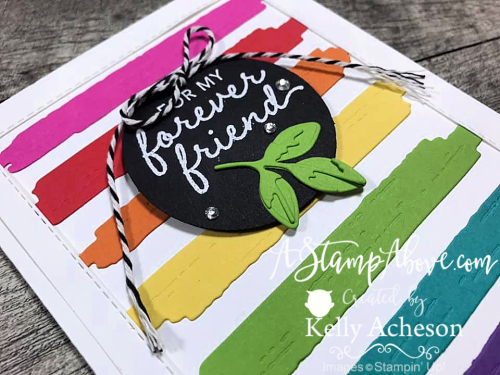 Learn how to make this card with the BRUSHED BLOOMS BUNDLE by Stampin' Up! - click for Video Tutorial - www.AStampAbove.com