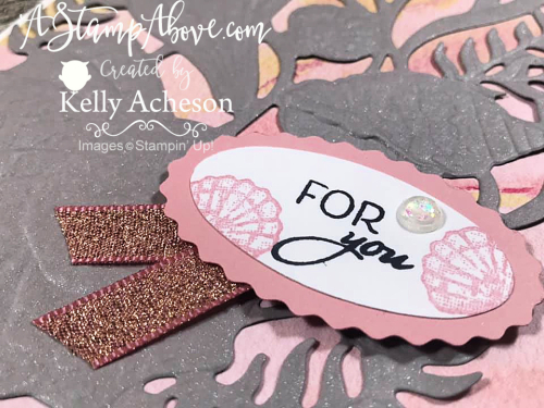 Learn how to add glimmer to you layer with FRIENDS ARE LIKE SEASHELLS by Stampin' Up! Click for VIDEO TUTORIAL www.AStampAbove.com