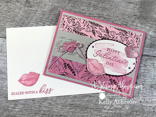 Click to watch a video tutorial and learn how to make these with the HEARTS & KISSES BUNDLE by Stampin' Up! www.AStampAbove.com