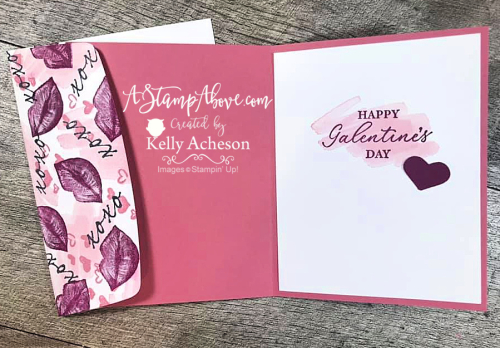 Fall in love with collage stamping and the HEARTS & KISSES bundle by Stampin' Up! Click to watch video tutorial. www.AStampAbove.com