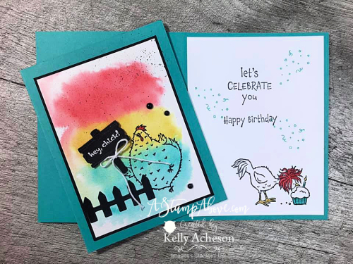 Hey Birthday Chick with dies! WHOO HOO! Click for details. www.AStampAbove.com