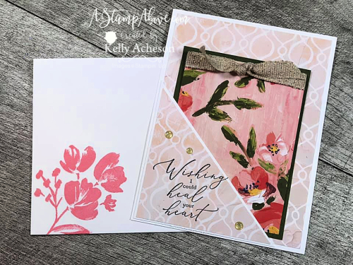 Corner Pocket Fold - learn how to. make this easy card with the beautiful FINE ART FLORAL SUITE by Stampin' Up! Click for video tutorial. www.AStampAbove.com