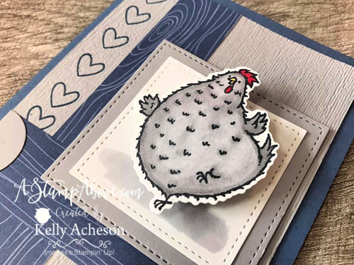IT WOBBLES!!! Make this adorable card with the Hey Birthday Chick stamp set & dies! WHOO HOO! Click for details. www.AStampAbove.com