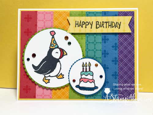 Party Puffins - new from Stampin' Up! Click for complete instructions/dimensions and more photos. www.AStampAbove.com