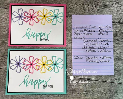 Click to see a template & video for a ONE SHEET WONDER using the PRETTY PERENNIALS BUNDLE by Stampin' Up! www.AStampAbove.com