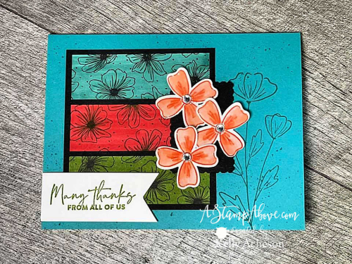 Learn how to make this fun card with the FLOWERS OF FRIENDSHIP BUNDLE by Stampin' Up! www.AStampAbove.com