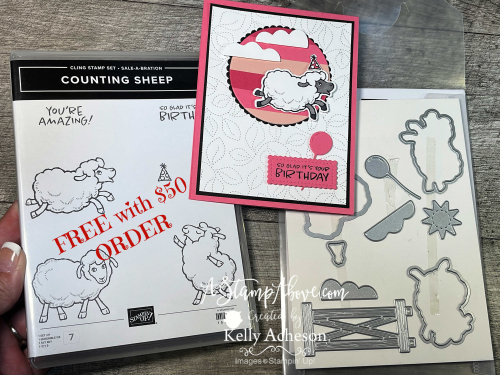 Paper Piecing Technique with Counting Sheep- FREE with a $50 order staring 8/3/21! Stampin' Up! www.AStampAbove.com