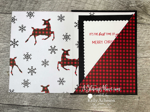 VIDEO TUTORIAL: Learn how to make a DSP POCKET CARD - so fun and easy using the PEACEFUL DEER BUNDLE - new from Stampin' Up! www.AStampAbove.com