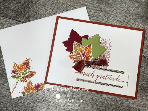 VIDEO TUTORIAL: Learn how to use the BABY WIPE TECHNIQUE to make gorgeous fall cards with the GORGEOUS LEAVES BUNDLE - new from Stampin' Up! www.AStampAbove.com