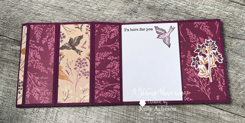 Click for VIDEO TUTORIAL - Learn how to make this BAY WINDOW fun fold with the Beauty of Tomorrow suite by Stampin' Up! www.AStampAbove.com