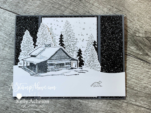 Bridge Span Card - Make this amazing card with PEACEFUL CABIN - it's a must have! Video tutorial available. www.AStampAbove.com