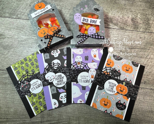 VIDEO TUTORIAL - Learn how to make these cute projects with TOMBSTONE TREAT BOXES & CUTEST HALLOWEEN & FRIGHTFULLY CUTE BUNDLES by Stampin' Up! www.AStampAbove.com