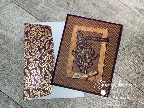 Love the CORK paper and Beauty of Tomorrow Suite by Stampin' Up! Video tutorial available. www.AStampAbove.com