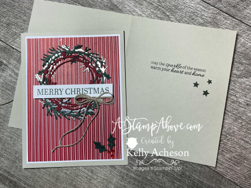 Sparkle of the Season Bundel by Stampin' Up! Video tutorial available. www.AStampAbove.com