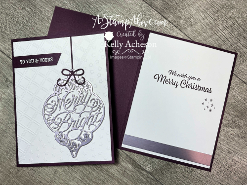 Bright Baubles Bundle by Stampin' Up! Video tutorial available. www.AStampAbove.com