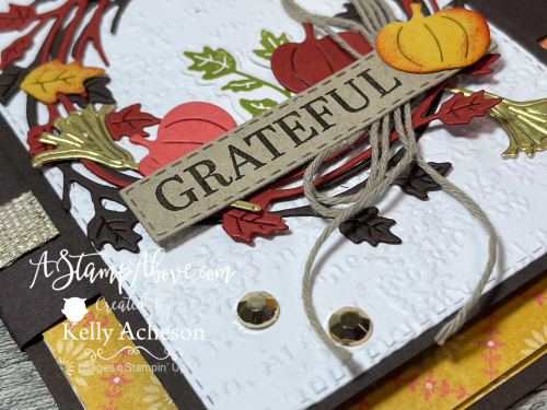 Video Tutorial - learn how to make a fun pocket fold card with the SPARKLE OF THE SEASON BUNDLE by Stampin' Up! www.AStampAbove.com
