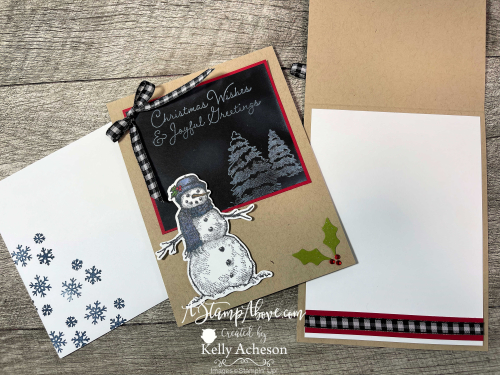 CHALKBOARD TECHNIQUE with SNOW WONDER - learn this easy technique with White Craft Ink and a Blending Brush - video tutorial available. www.AStampAbove.com