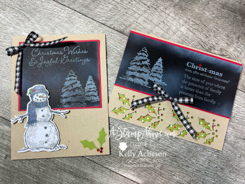 CHALKBOARD TECHNIQUE with SNOW WONDER & WELL DEFINED - learn this easy technique with White Craft Ink and a Blending Brush - video tutorial available. www.AStampAbove.com