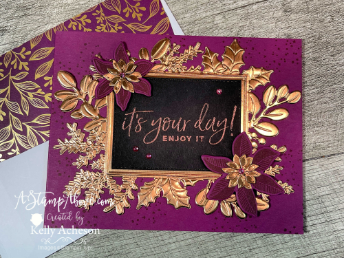 Make gorgeous cards with MERRIEST MOMENTS BUNDLE by Stampin' Up! Video tutorial available. www.AStampAbove.com