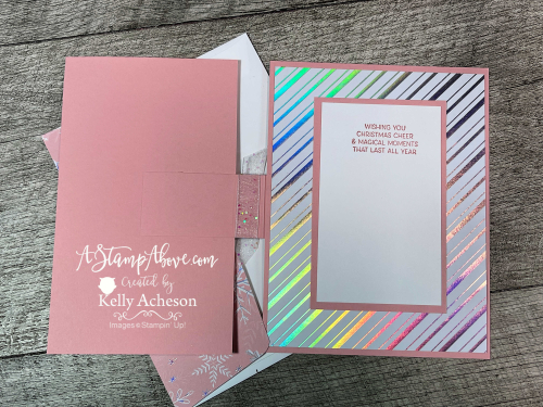 Fun fold video tutorial with Whimsical Trees by Stampin' Up! www.AStampAbove.com