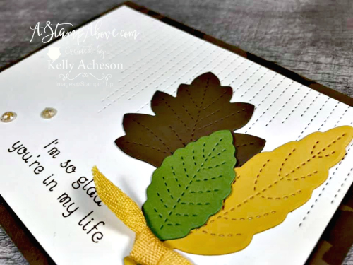 Learn all about the new LOVE OF LEAVES bundle by Stampin' Up! - VIDEO TUTORIAL - Click for details - ️SHOP ️ - ORDER STAMPIN' UP! PRODUCTS ON-LINE. Purchase the $99 Starter Kit & enjoy a 20% discount! Tons of paper crafting ideas & FREE Online Classes. www.AStampAbove.com